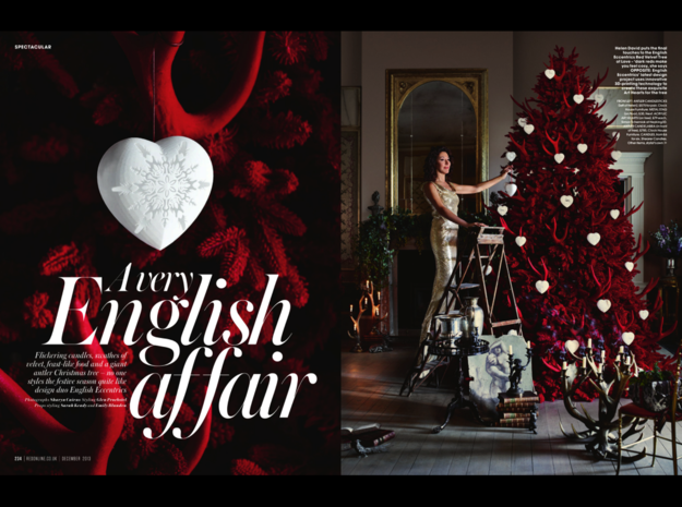 Large Stag Heart by Helen & Colin David 3d printed as featured in Red Magazine - December 2013