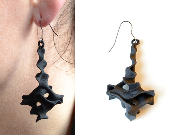 Earrings Pendule 3d printed