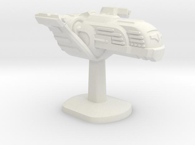 Tempus Nautica Board Game Piece - Police ship in White Natural Versatile Plastic