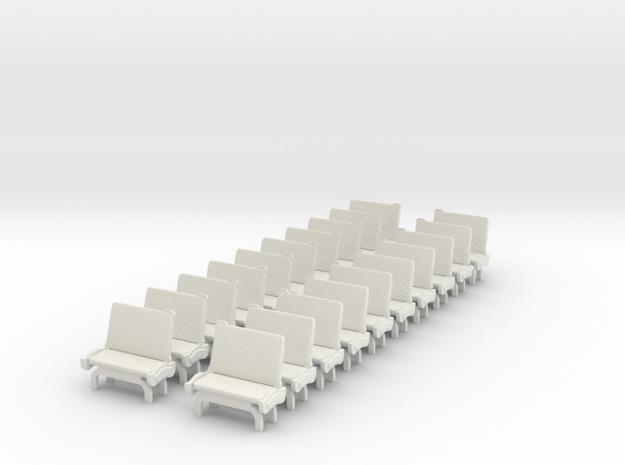 TARS Brill O scale - SEATS in White Natural Versatile Plastic