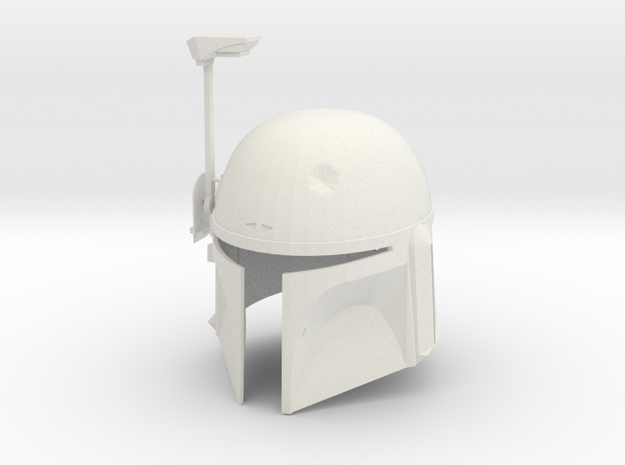 Boba Fett ESB Helmet 1/4th Scale in White Natural Versatile Plastic