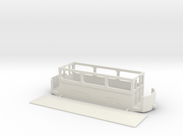 Volk's Car 5 (The Winter Car)  4mm (009) in White Strong & Flexible