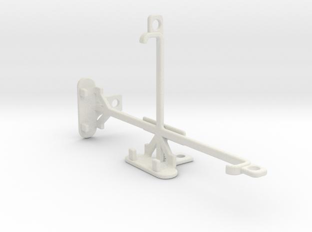 LG X mach tripod & stabilizer mount in White Natural Versatile Plastic