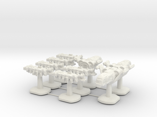 Tempus Nautica Board Game Pieces - Full set of shi in White Natural Versatile Plastic