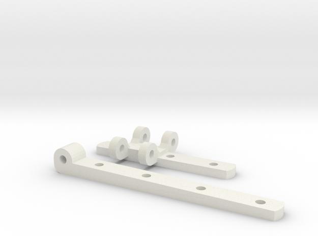 Gauge 3 L&Y covered van door hinges in White Natural Versatile Plastic