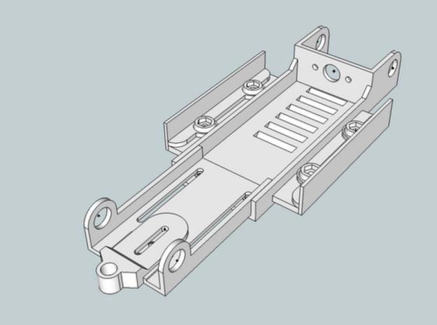 1/24 Slotcar Chassis 3d printed