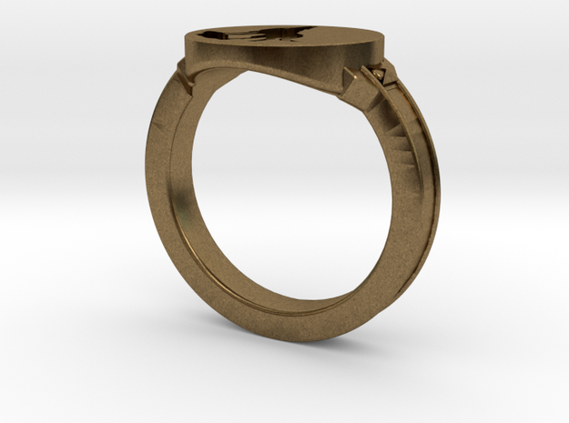 Dark Souls inspired Wolf Ring in Natural Bronze: 7.5 / 55.5