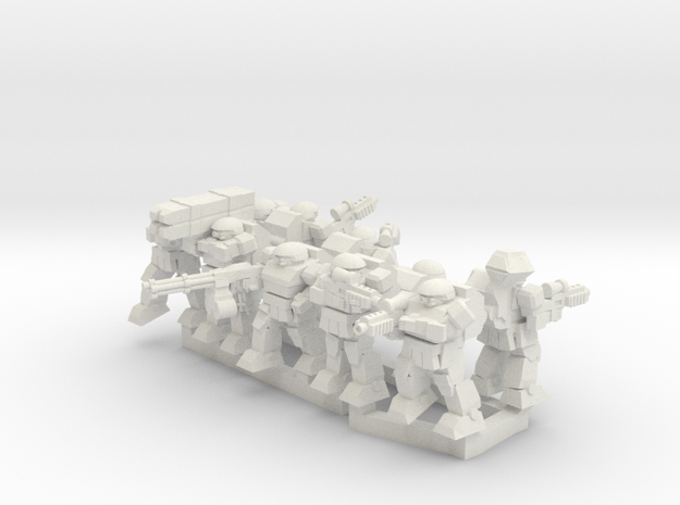 Warplated Squad in White Natural Versatile Plastic