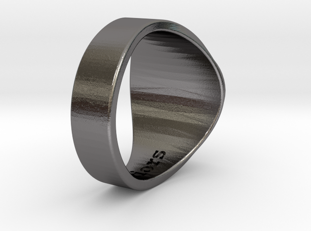 Superball Curry Ring S10 in Polished Nickel Steel