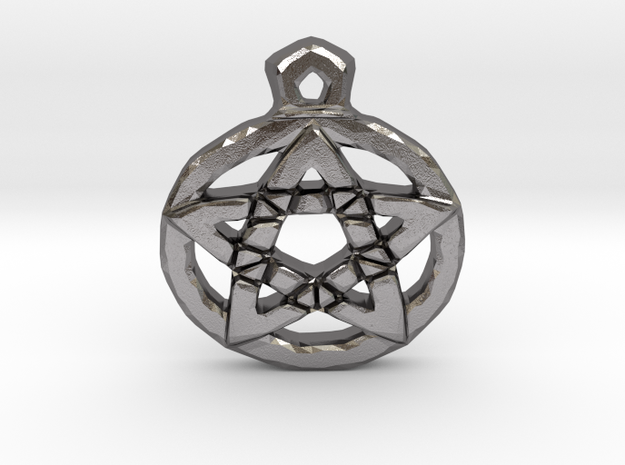 Pentacle Pendant in Polished Nickel Steel