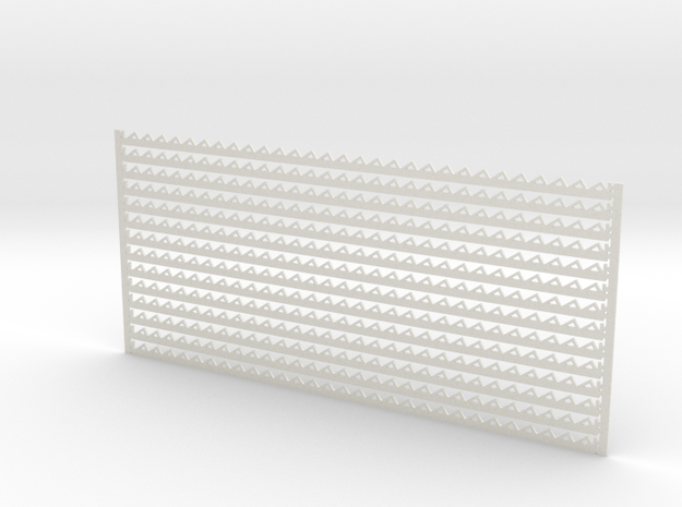 Arch. Fascia (Barge) Boards - Zig Zag Pattern in White Natural Versatile Plastic: 1:32