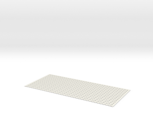Arch. Fascia (Barge) Boards - Victorian Pattern in White Natural Versatile Plastic: 1:24