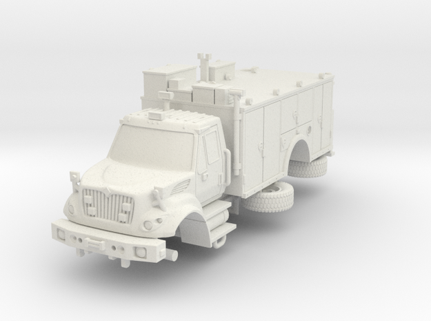 1/64 FDNY seagrave Tactical Support Unit in White Natural Versatile Plastic