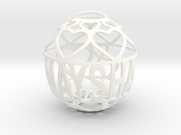 Naysha Lovaball in White Processed Versatile Plastic