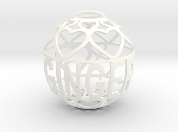 Ginger Lovaball in White Processed Versatile Plastic