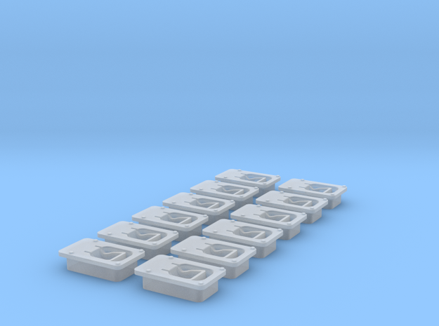 Paddle latch in 1:12 scale in Smooth Fine Detail Plastic