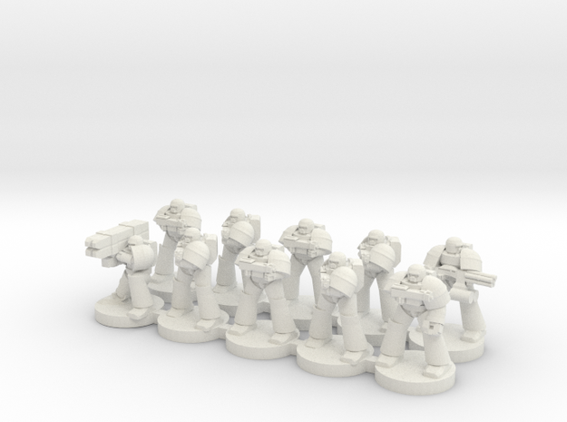 8mm Super Soldiers in Warrior Plate (squad)