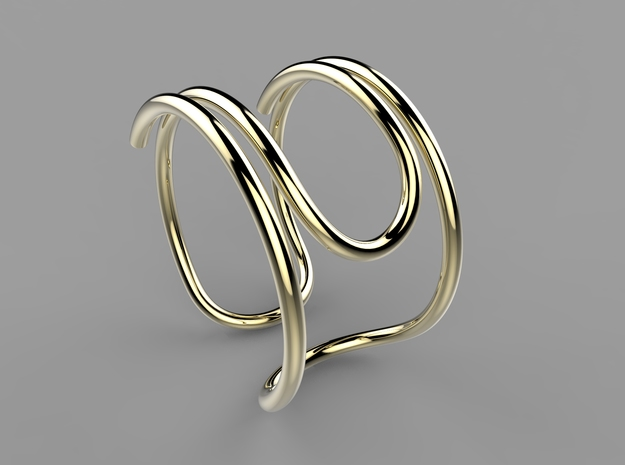 Paperclip Ring in Fine Detail Polished Silver: 7 / 54