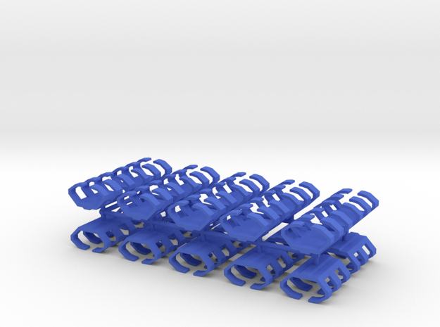 Game Piece, Shipyard, 20-set in Blue Processed Versatile Plastic
