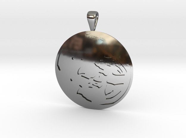 Ganymede in Fine Detail Polished Silver