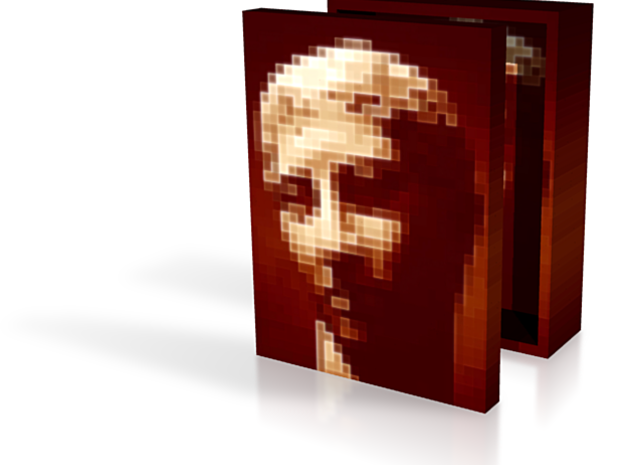 Brown Portrait Squares Box 3in 3d printed