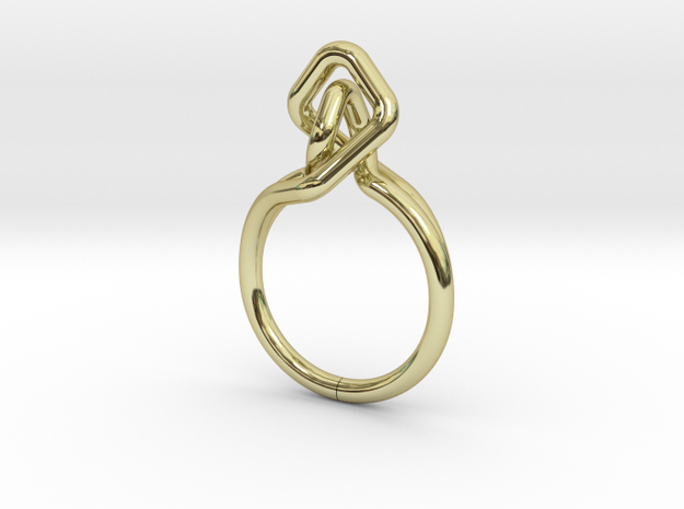 A-LINE Dancing D.02,US size 5.5, d=16mm in 18k Gold Plated: 5.5 / 50.25