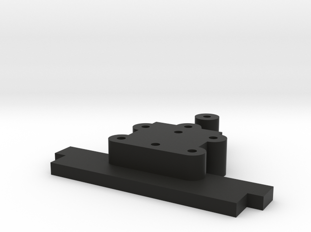 Lionel O Sharknose Rear Coupler Mount (LOWERED) in Black Natural Versatile Plastic
