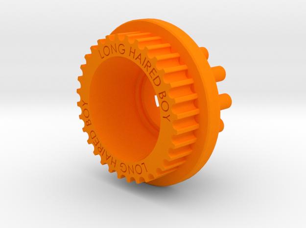 LHB 10mm 32T Wheel Pulley For Orangutan Kegals in Orange Processed Versatile Plastic