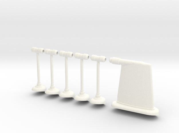 1.10 ANTENNE RADIO FUSELAGE in White Strong & Flexible Polished