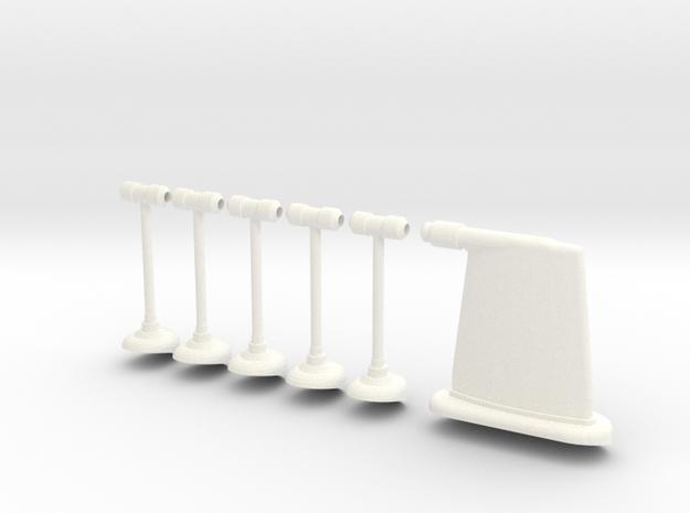 1.10 ANTENNE RADIO FUSELAGE in White Processed Versatile Plastic