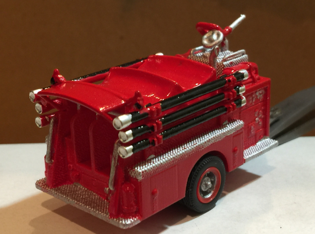 Mack Pumper Body 1:87 in White Natural Versatile Plastic