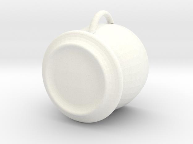 Tea Cup in White Processed Versatile Plastic