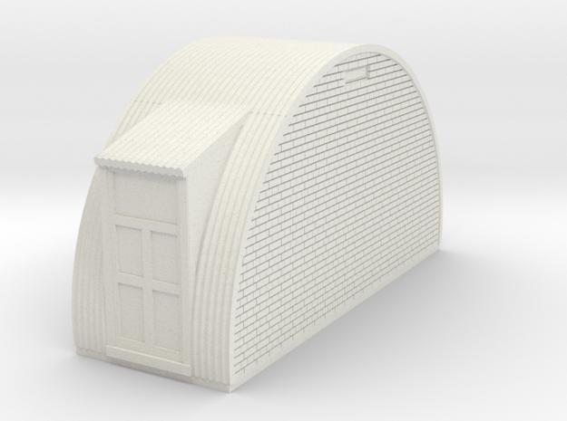 N-76-end-brick-nissen-hut-left-door-1a in White Natural Versatile Plastic