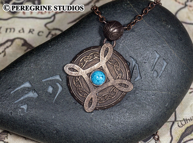 Pendant - Amulet of Mara in Polished Bronze Steel