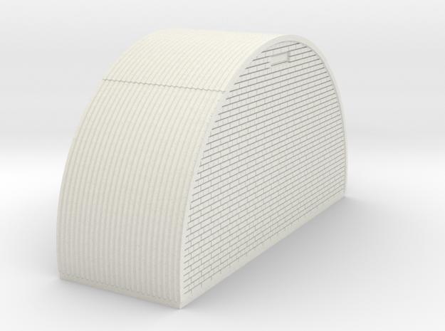 N-76-end-brick-nissen-hut-right-door-1a in White Natural Versatile Plastic