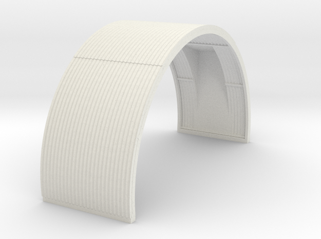 N-76-complete-nissen-hut-mid-16-door-1a in White Natural Versatile Plastic