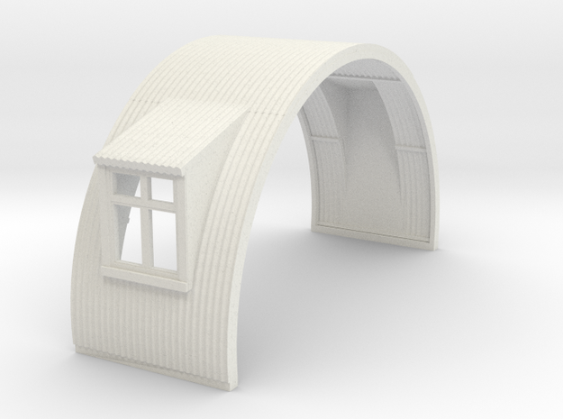 N-76-complete-nissen-hut-mid-16-door-wind-1a in White Natural Versatile Plastic
