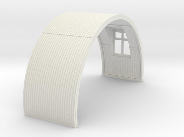 N-76-complete-nissen-hut-mid-16-window-1a in White Natural Versatile Plastic