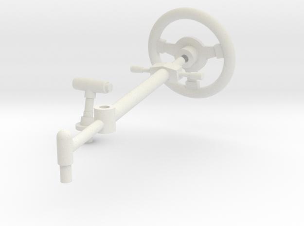 SR40007 Beach Buggy Steering Wheel in White Natural Versatile Plastic