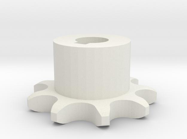 Pignone Per Catena Semplice ISO 04B-1 P6 Z9 in White Natural Versatile Plastic
