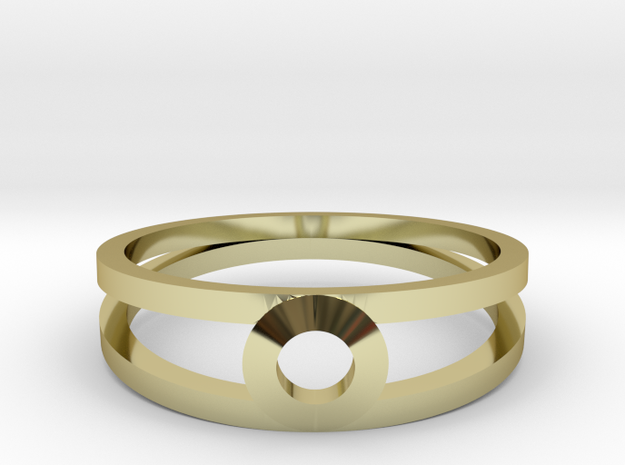 """""""K Line""""  K3 Ring, US size 8, d=18,2mm(all sizes o in 18k Gold Plated: 8 / 56.75"""