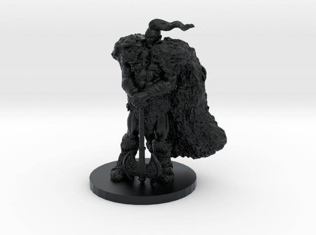 Raven Barbarian Miniature in Black Hi-Def Acrylate