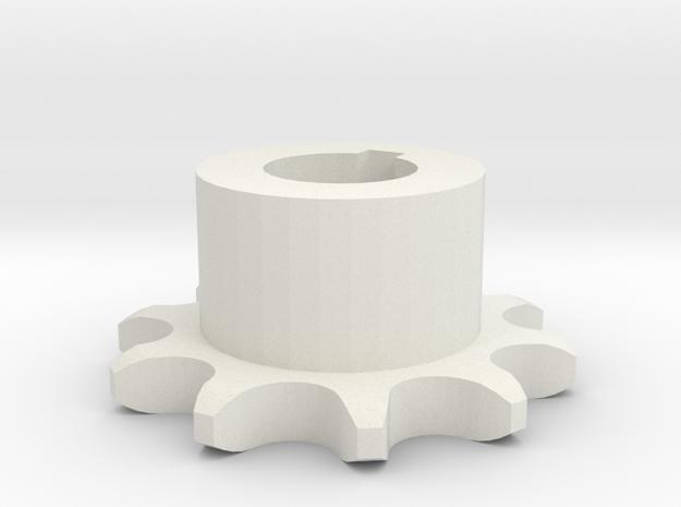 Pignone Per Catena Semplice ISO 04B-1 P6 Z10 in White Natural Versatile Plastic