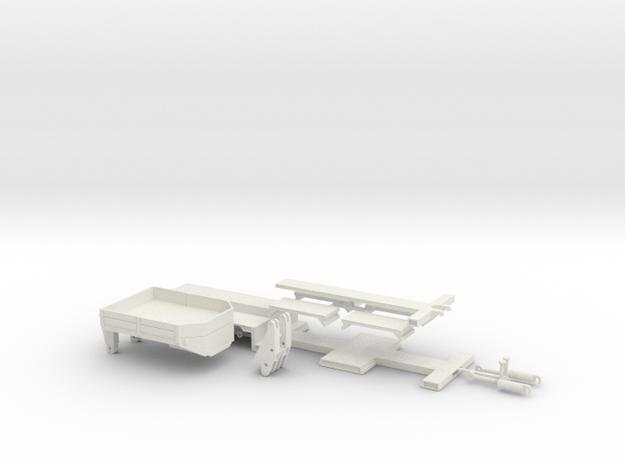 Kesselbett ähnlich Goldhofer 3achs 1:32 in White Natural Versatile Plastic