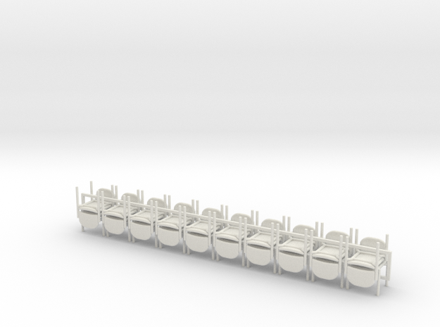 20 1:48 Stacking Chairs in White Strong & Flexible