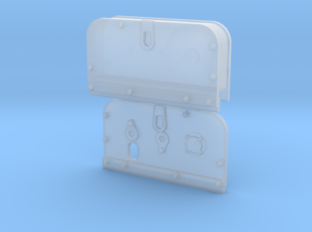 Side Plates LH in Smooth Fine Detail Plastic
