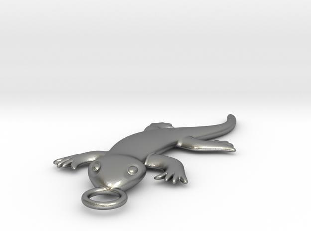 Lizard in Raw Silver