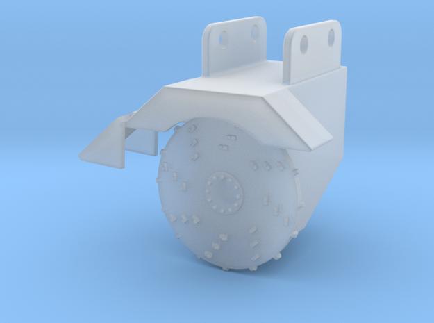 1/87 HO Fecon excavator stump grinder in Smooth Fine Detail Plastic