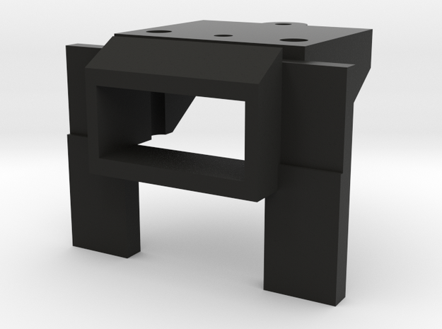 Atlas O Scale EMD GP35 Coupler Mount (Open) in Black Natural Versatile Plastic