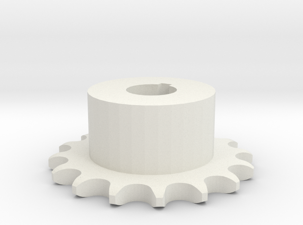 Pignone Per Catena Semplice ISO 04B-1 P6 Z16 in White Natural Versatile Plastic